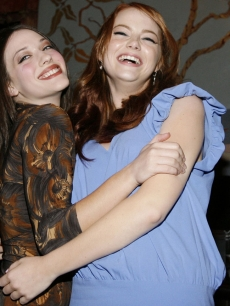Emma Stone and Kat Dennings LA 8 13 '07
