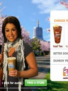 Rachael Ray appears in an ad for Dunkin Donuts