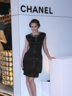 Leighton Meester at the new Chanel store opening on Robertson Blvd