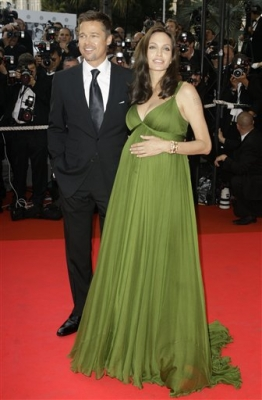 Brad Pitt and Angelina Jolie at the premiere of 'Kung Fu Panda' at Cannes