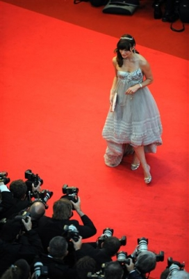 Milla Jovovich arrives for the Cannes premiere of the film 'The Palermo Shooting'