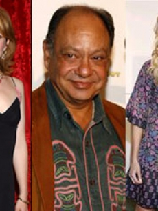 lea thompson cheech marin lucy lawless 3-shot