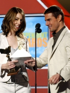 Sofia Coppola and Tom Cruise at the 2004 Independent Spirit Awards