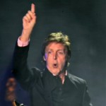 Paul McCartney performs during his charity concert in Kiev Friday