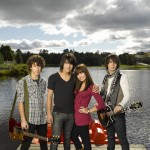 The Jonas Brothers and Demi Lovato in 'Camp Rock'