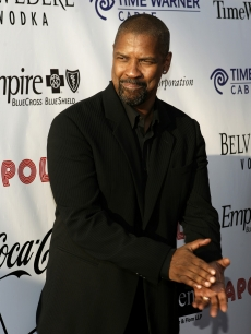 Denzel Washington at the Apollo Theater's Hall of Fame induction ceremony in NY