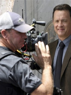 Tom Hanks on the set of 'Angels and Demons' filming in Rome