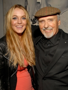 Lindsay Lohan and Dennis Hopper at the launch of G-Star LA Raw Night
