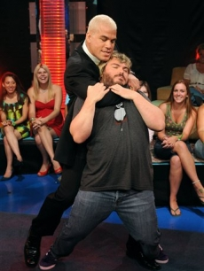 Tito Ortiz and Jack Black throw down at MTV's 'TRL' show in New York