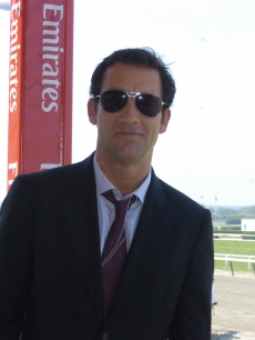 Clive Owen at the 140th running of the Belmont Stakes, NY