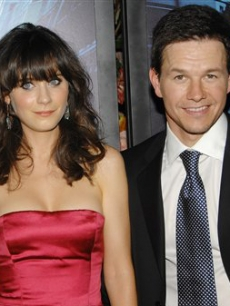 Zooey Deschanel and Mark Wahlberg at &#8216;The Happening&#8217; premiere, NYC 