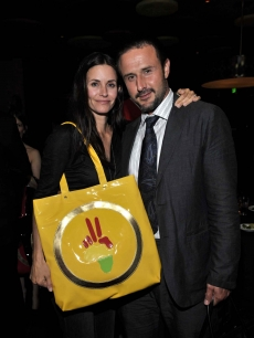 Courteney Cox and David Arquette lend their star power to the Omnipeace dinner