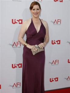 Molly Ringwald arrives at the AFI Life Achievement Award dinner honoring Warren Beatty