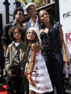 Willow Smith and family at the 'Kit Kittredge: An American Girl' premiere