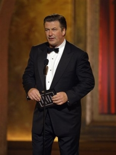 Alec Baldwin makes a presentation during the 62nd Annual Tony Awards in New York
