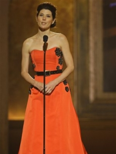 Marisa Tomei presents during the 62nd Annual Tony Awards in New York