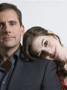 Steve Carell and Anne Hathaway at the 'Get Smart' Q & A in Las Vegas, Nev.