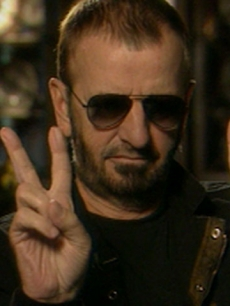 Ringo Starr gives Access Hollywood the peace sign, June 2008