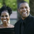 Denzel Washington and wife Pauletta were all smiles