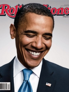 Sen. Barack Obama on the cover of Rolling Stone Magazine