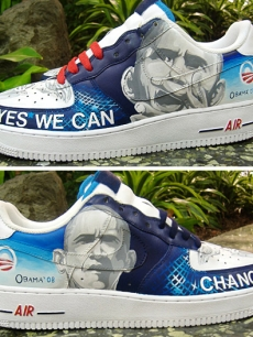 Barack Obama sneakers by Van Taylor