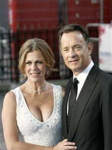 Tom Hanks and Rita Wilson, the executive producers of 'Mamma Mia,' arrive at the world premiere