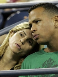 Alex Rodriguez and wife Cynthia at the US Open in Sept. 2007