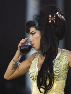 Amy Winehouse performs during the Rock in Rio music festival in Arganda del Rey, Spain