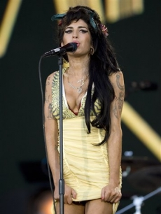 Amy Winehouse at the Rock in Rio music festival