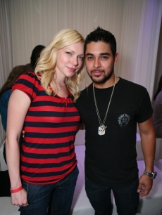 Wilmer Valderrama and Laura Prepon at PURE Nightclub in Las Vegas