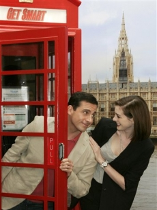 Steve Carell and Anne Hathaway in London for 'Get Smart'