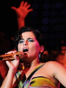 Nelly Furtado performs in Poznan, Poland, July 11, 2008