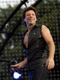 Jon Bon Jovi rocks out for Major League Baseball at a free Central Park concert