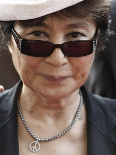 Yoko Ono arrives Martin's benefit