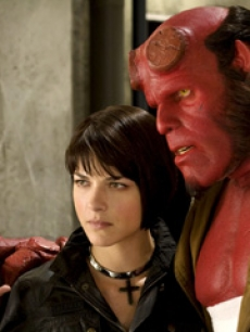 Ron Perlman and Selma Blair in &#8216;Hellboy II&#8217;