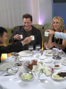 Brendan Fraser, Jet Li and Maria Bello dine at Mr. Chow with Billy Bush