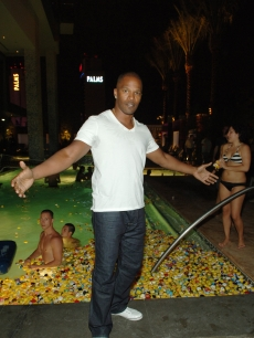 Jamie Foxx at the Addicted to Quack Palms Place Pool Party in Las Vegas