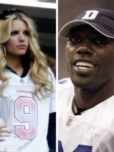 Jessica Simpson and Terrell Owens