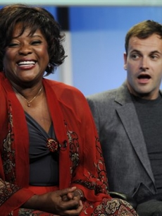 Loretta Devine and Jonny Lee Miller talk at the TCA's in Los Angeles