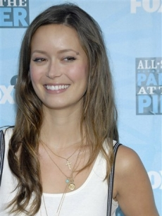 Summer Glau smiles for the press in Los Angeles, July 2008