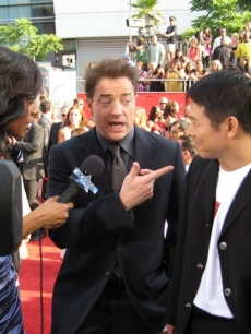 Shaun and Jet Li and Brendan Fraser at ESPY Awards
