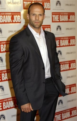 Jason Statham arrives for the Australian premiere of his new movie 'The Bank Job' in Sydney