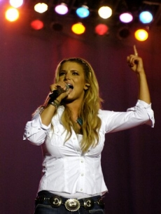 Jessica Simpson sings at Country Thunder in Randall, Wisconsin