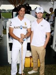 Chace Crawford and polo player Nacho Figueras at the Bridgehampton Polo Club