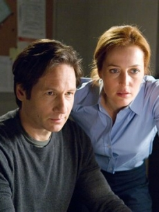 David Duchovny and Gillian Anderson in a scene from 'The X-Files: I Want to Believe'