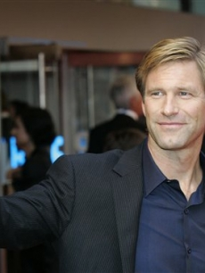Aaron Eckhart at the London 'Dark Knight' premiere, July 21, 2008