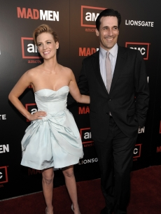 January Jones and Jon Hamm at the Season 2 premiere of 'Mad Men' in LA