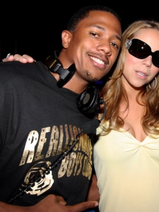 Hot couple Nick Cannon and Mariah Carey kick back at Aura Nightclub in the Bahamas