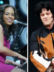 Alicia Keys and Jack White