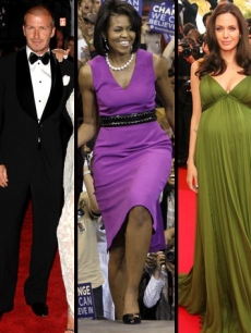 David Beckham, Michelle Obama and Angelina Jolie